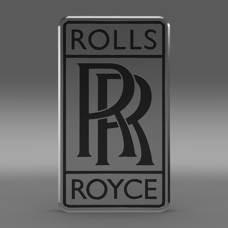 rolls-royce logo 3d model 3ds max fbx c4d lwo ma mb hrc xsi obj 162773
