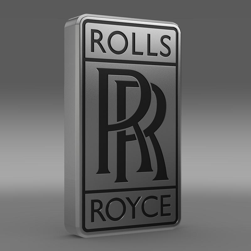 rolls-royce logo 3d model 3ds max fbx c4d lwo ma mb hrc xsi obj 162774