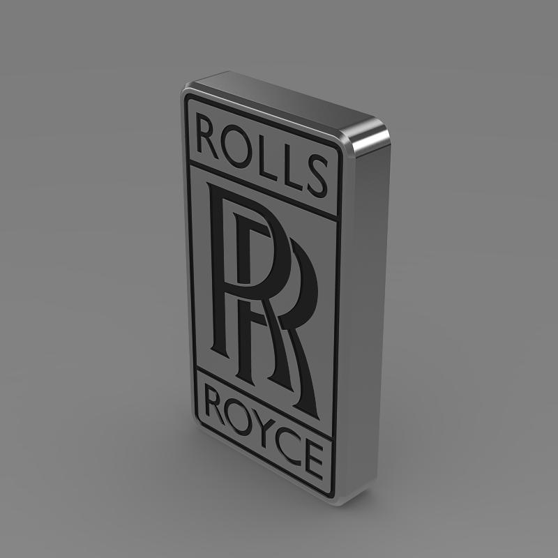 rolls-royce logo 3d model 3ds max fbx c4d lwo ma mb hrc xsi obj 162775