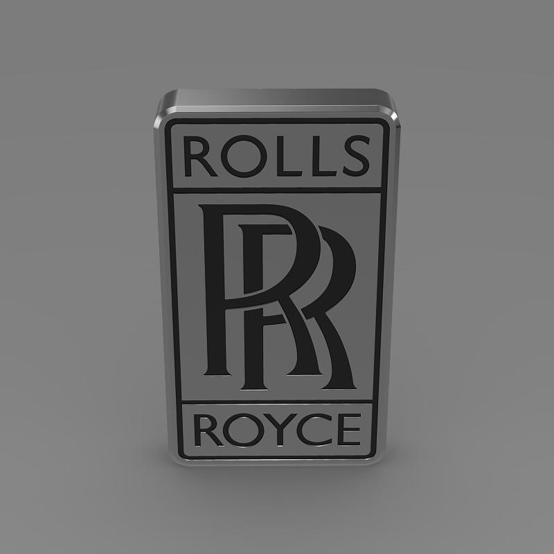 rolls-royce logo 3d model 3ds max fbx c4d lwo ma mb hrc xsi obj 162776