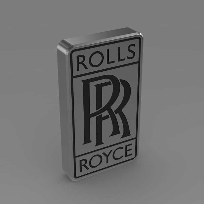 rolls-royce logo 3d model 3ds max fbx c4d lwo ma mb hrc xsi obj 162777