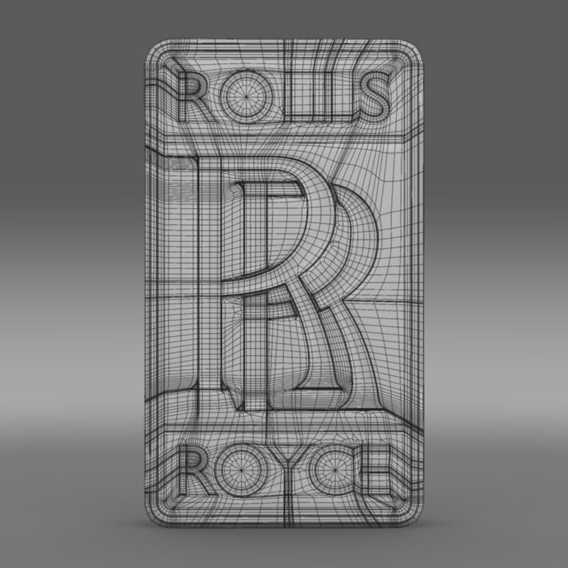 rolls-royce logo 3d model 3ds max fbx c4d lwo ma mb hrc xsi obj 162778