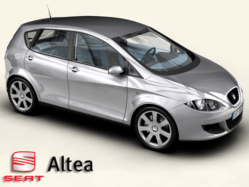 Seat Altea 3d Model 3ds Max Obj 127867