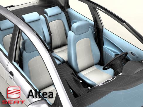 seat altea 3d model 3ds max obj 127872