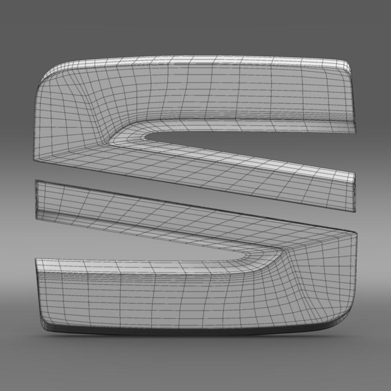seat new logo 3d model 3ds max fbx c4d lwo ma mb hrc xsi obj 150490