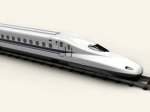 shinkansen n700 3d model 3ds max c4d am ychydig o objj 127948