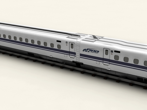 shinkansen n700 3d model 3ds max c4d lwo ma mb obj 127949
