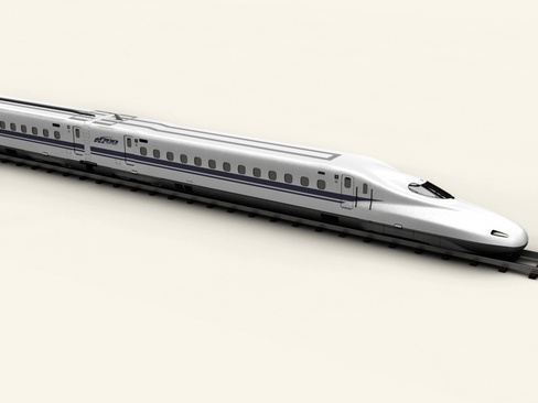 shinkansen n700 3d model 3ds max c4d lwo ma mb obj 127950