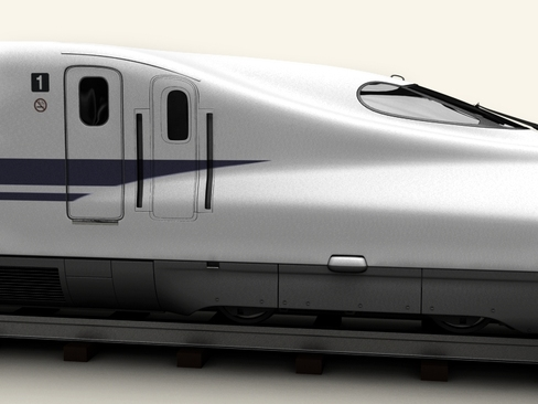 shinkansen n700 3d model 3ds max c4d lwo ma mb obj 127951