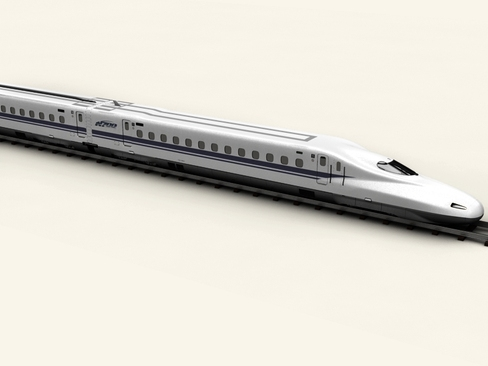 shinkansen n700 3d model 3ds max c4d lwo ma mb obj 127954