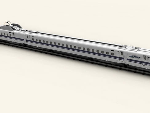 shinkansen n700 3d model 3ds max c4d lwo ma mb obj 127955