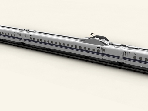 shinkansen n700 3d model 3ds max c4d lwo ma mb obj 127956