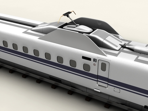 shinkansen n700 3d model 3ds max c4d lwo ma mb obj 127957