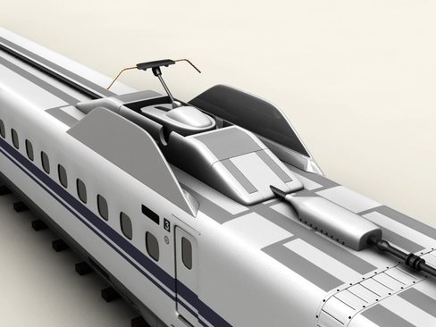 shinkansen n700 3d model 3ds max c4d lwo ma mb obj 127958