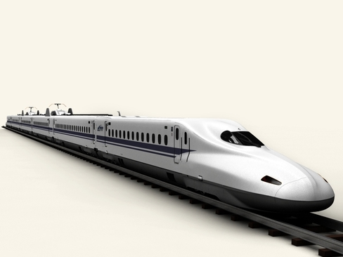 shinkansen n700 3d model 3ds max c4d lwo ma mb obj 127960