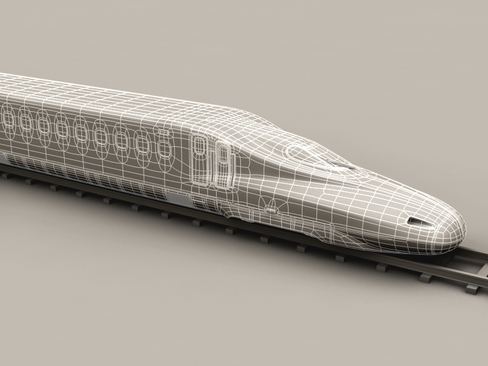 shinkansen n700 3d model 3ds max c4d lwo ma mb obj 127961