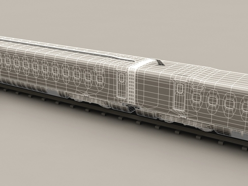 shinkansen n700 3d model 3ds max c4d lwo ma mb obj 127962