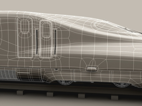 shinkansen n700 3d model 3ds max c4d lwo ma mb obj 127964