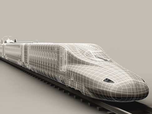 shinkansen n700 3d model 3ds max c4d lwo ma mb obj 127965