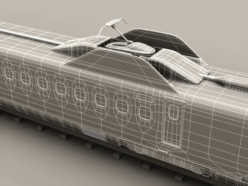 shinkansen n700 3d model 3ds max c4d lwo ma mb obj 127970