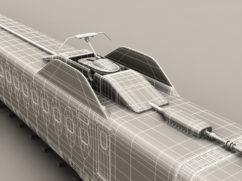 shinkansen n700 3d model 3ds max c4d lwo ma mb obj 127971