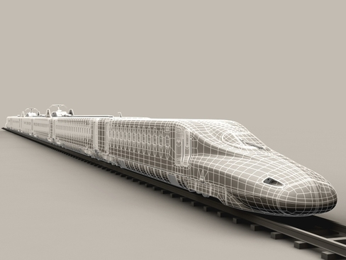 shinkansen n700 3d model 3ds max c4d lwo ma mb obj 127973