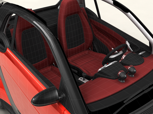 smart fortwo coupe 2009 3d model 3ds max lwo obj 127980