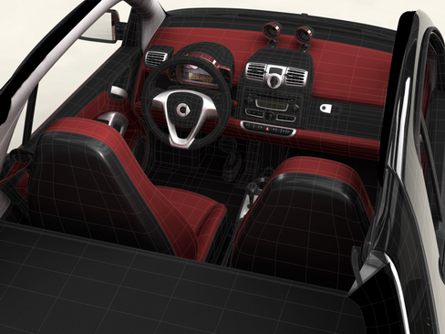 smart fortwo coupe 2009 3d model 3ds max lwo obj 127981