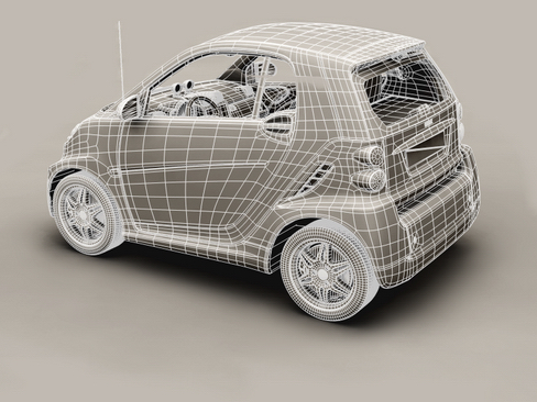 smart fortwo coupe 2009 3d model 3ds max lwo obj 127983