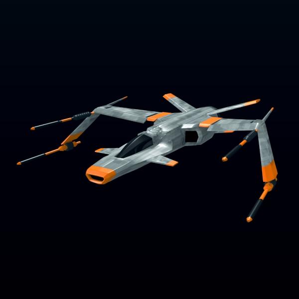 spacefighter 3d model 3ds fbx blend lwo  obj 137681