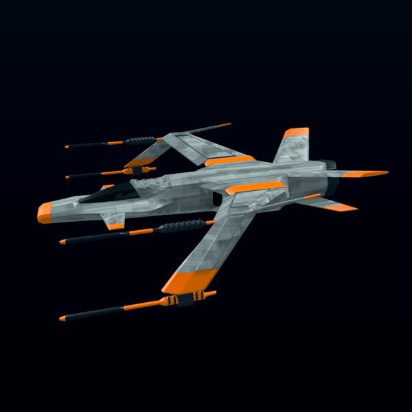 spacefighter 3d model 3ds fbx blend lwo  obj 137682
