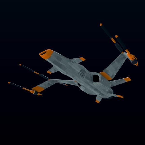 spacefighter 3d model 3ds fbx blend lwo  obj 137683