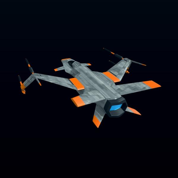 spacefighter 3d model 3ds fbx blend lwo  obj 137684