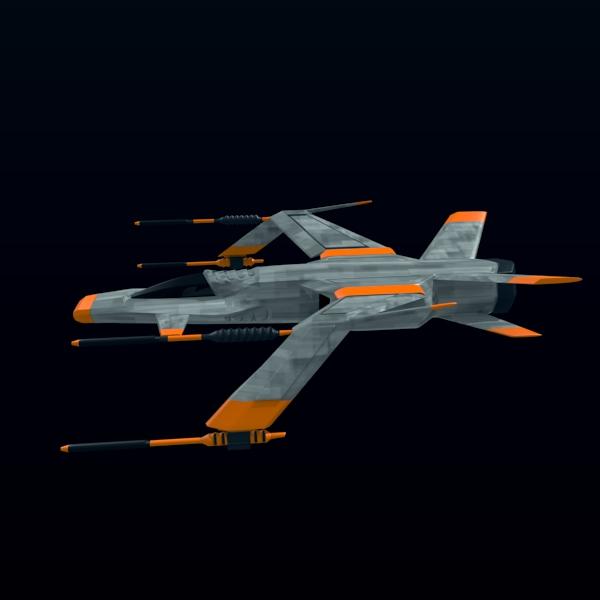 spacefighter 3d model 3ds fbx blend lwo  obj 137687