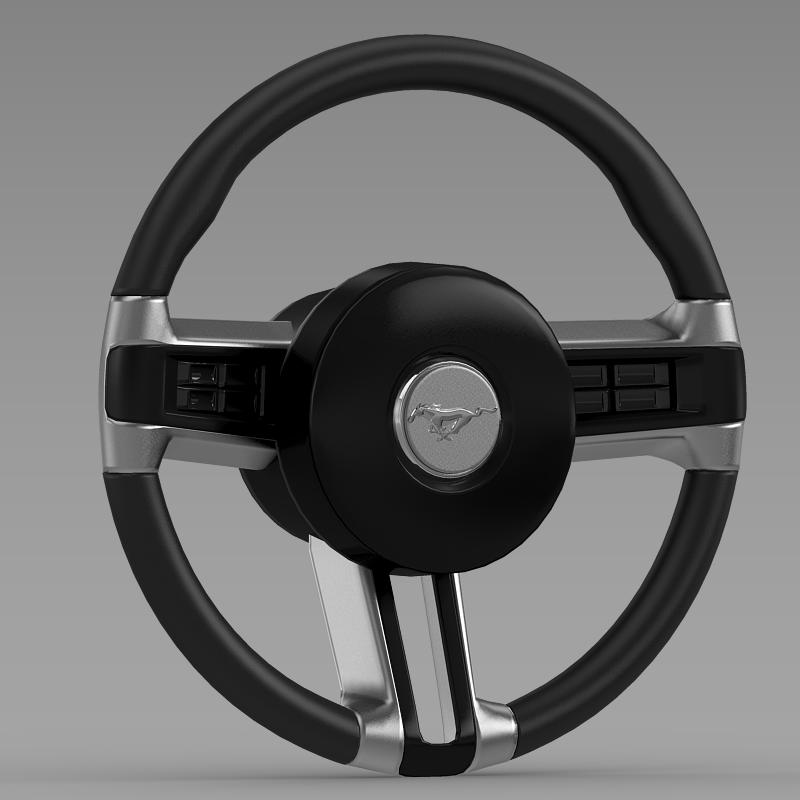 steering wheel mustang 3d model 3ds max fbx c4d lwo ma mb hrc xsi obj 141407