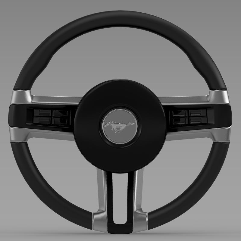 steering wheel mustang 3d model 3ds max fbx c4d lwo ma mb hrc xsi obj 141409