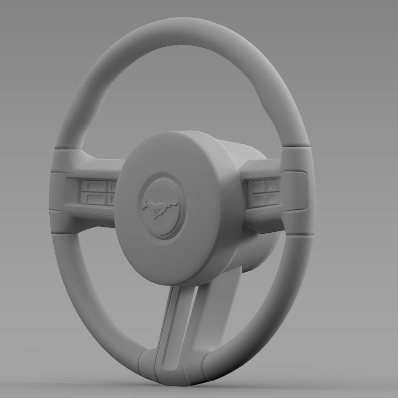 steering wheel mustang 3d model 3ds max fbx c4d lwo ma mb hrc xsi obj 141410
