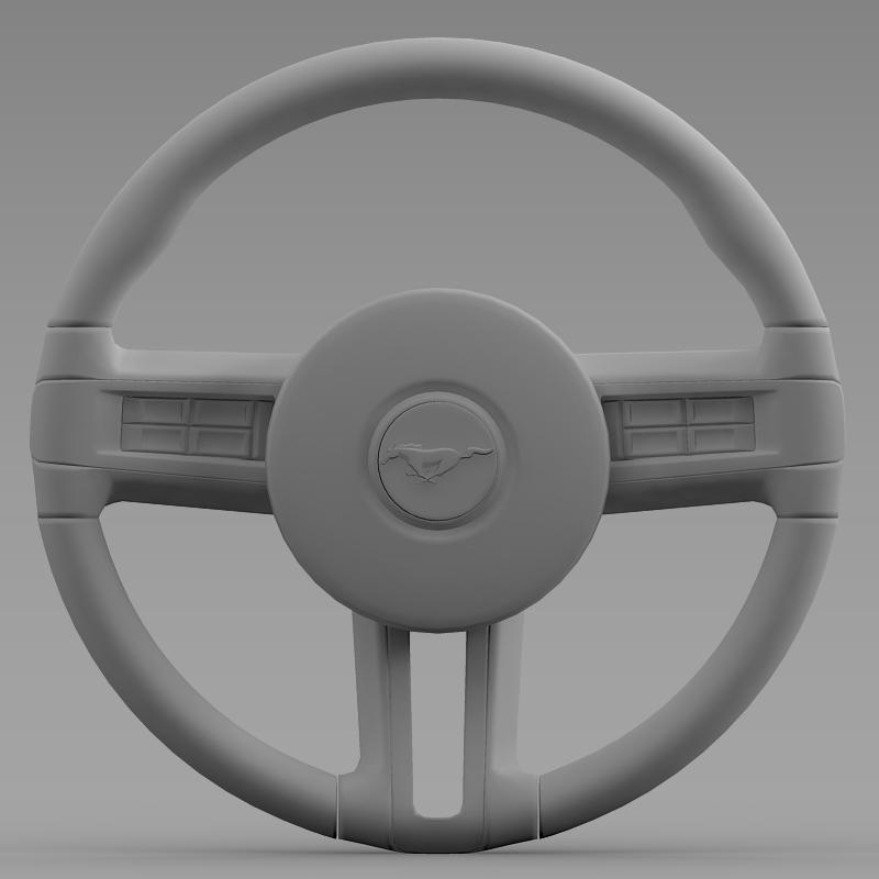 steering wheel mustang 3d model 3ds max fbx c4d lwo ma mb hrc xsi obj 141411