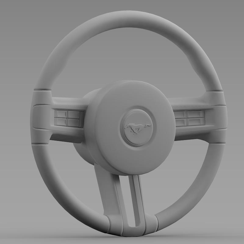steering wheel mustang 3d model 3ds max fbx c4d lwo ma mb hrc xsi obj 141412