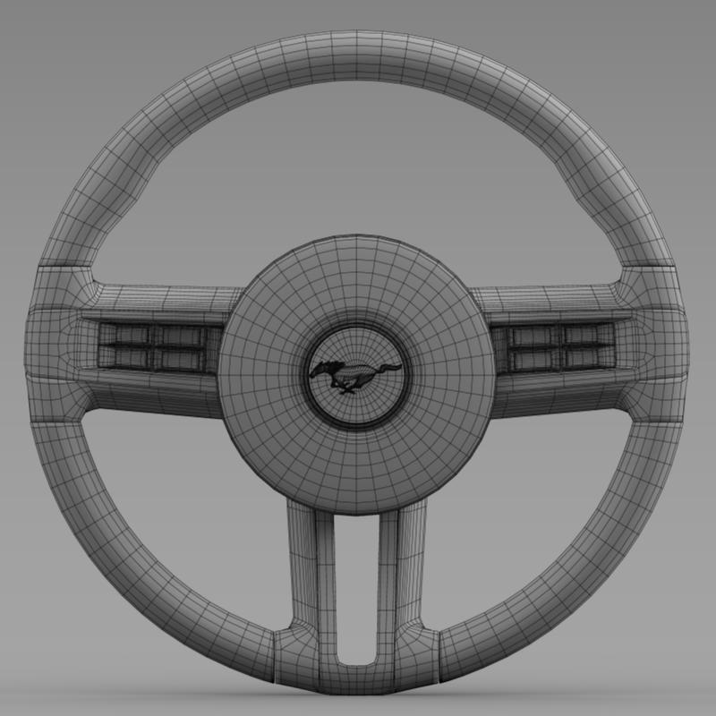 steering wheel mustang 3d model 3ds max fbx c4d lwo ma mb hrc xsi obj 141413