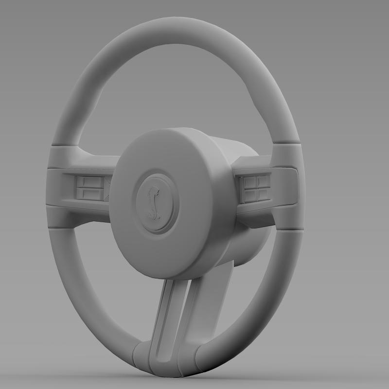 steering wheel shelby mustang 3d model 3ds max fbx c4d lwo ma mb hrc xsi obj 141417