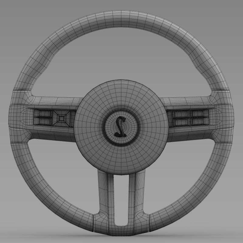 steering wheel shelby mustang 3d model 3ds max fbx c4d lwo ma mb hrc xsi obj 141420