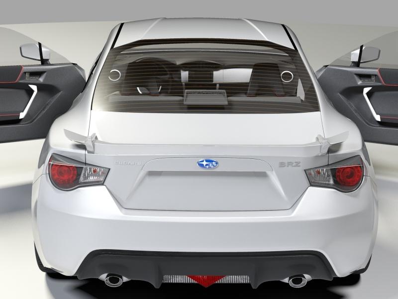 Subaru BRZ 3D Model - FlatPyramid