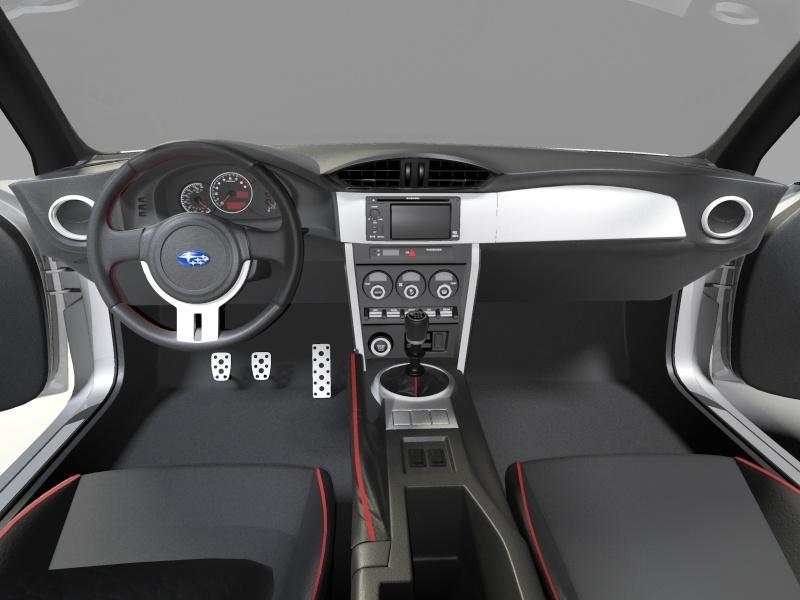 subaru brz 3d model 3ds max 130940