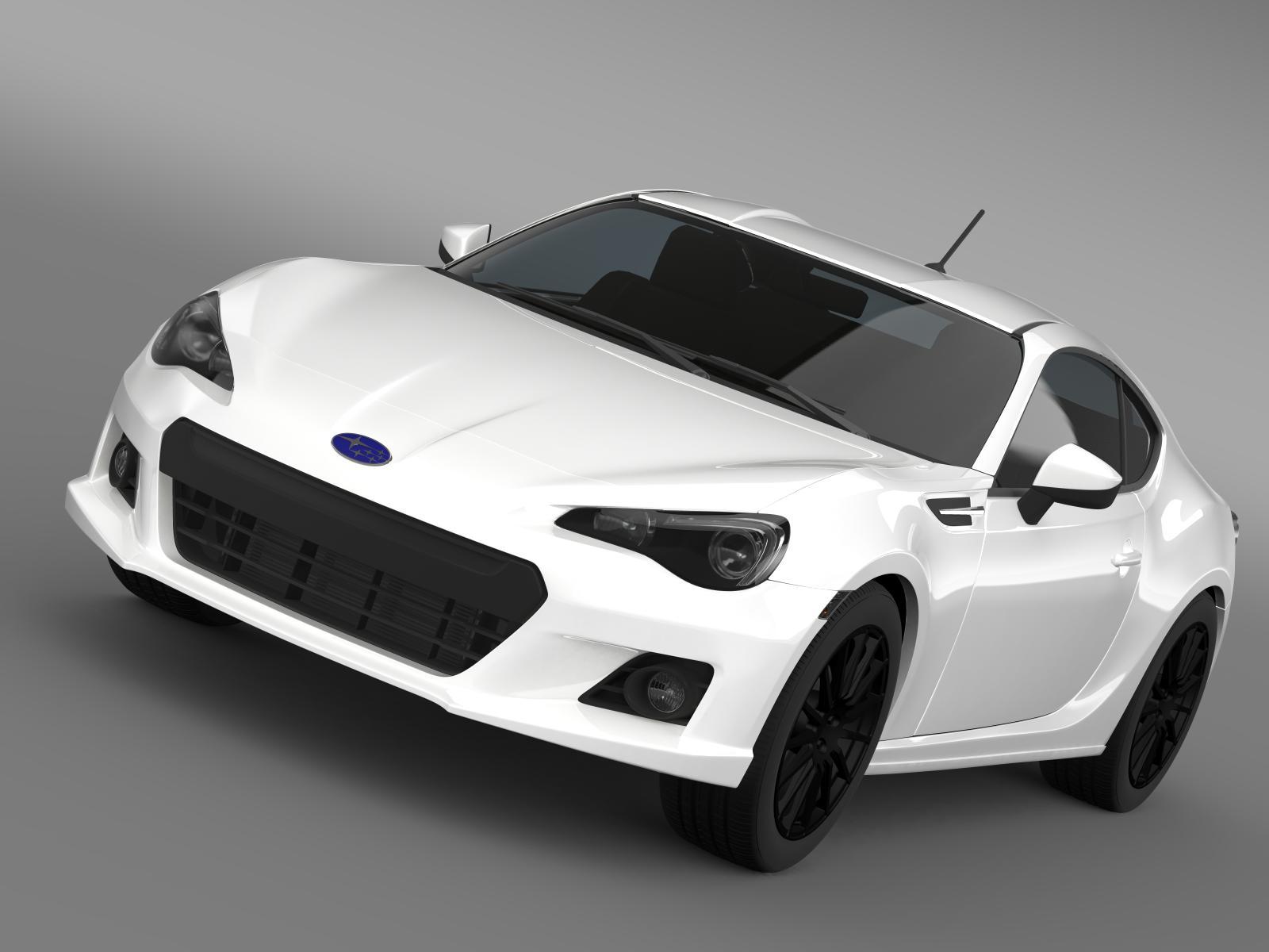 Subaru BRZ Premium Sport Package ZC6 2013 3D Model ...