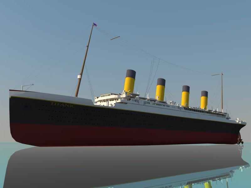 titanic 3d modelo 3ds dxf dwg skp obj 163725