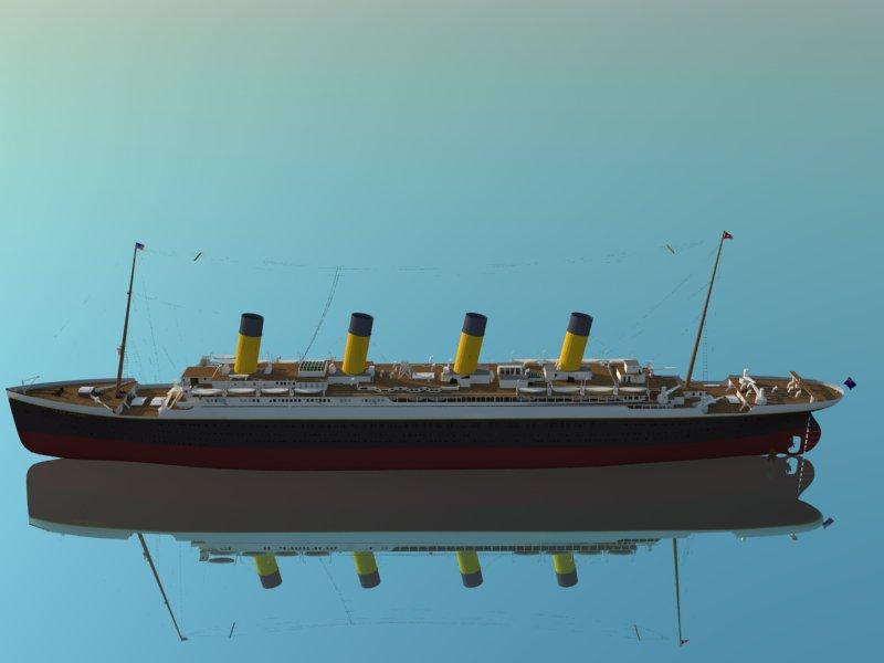 titanic 3d model 3ds dxf dwg skp obj 163726