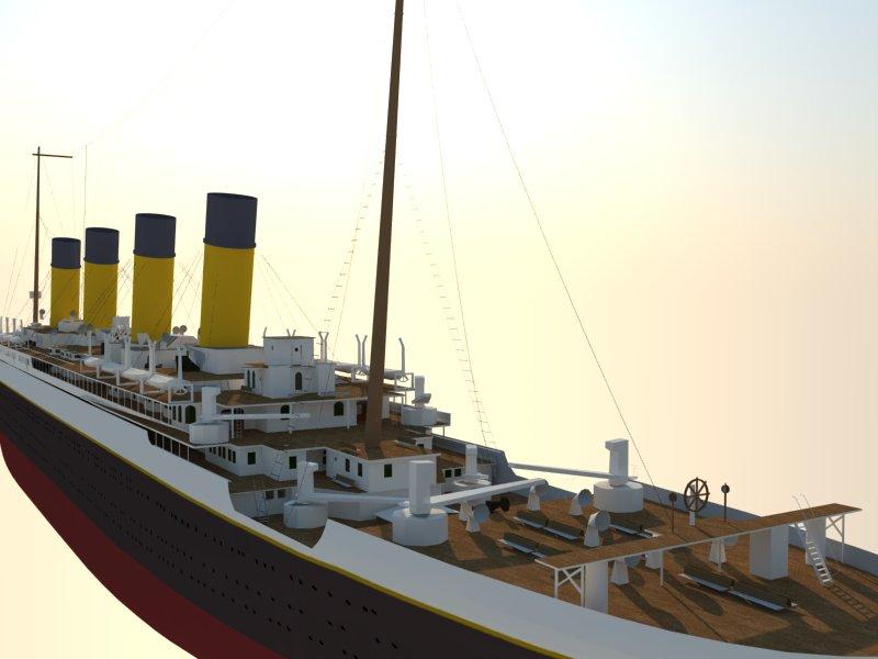 titanic 3d model 3ds dxf dwg skp obj 163727