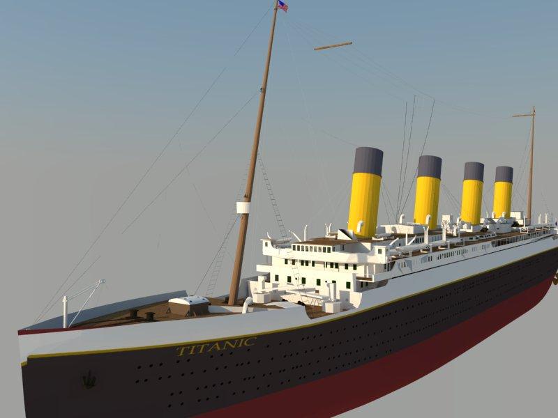titanic 3d model 3ds dxf dwg skp obj 163728