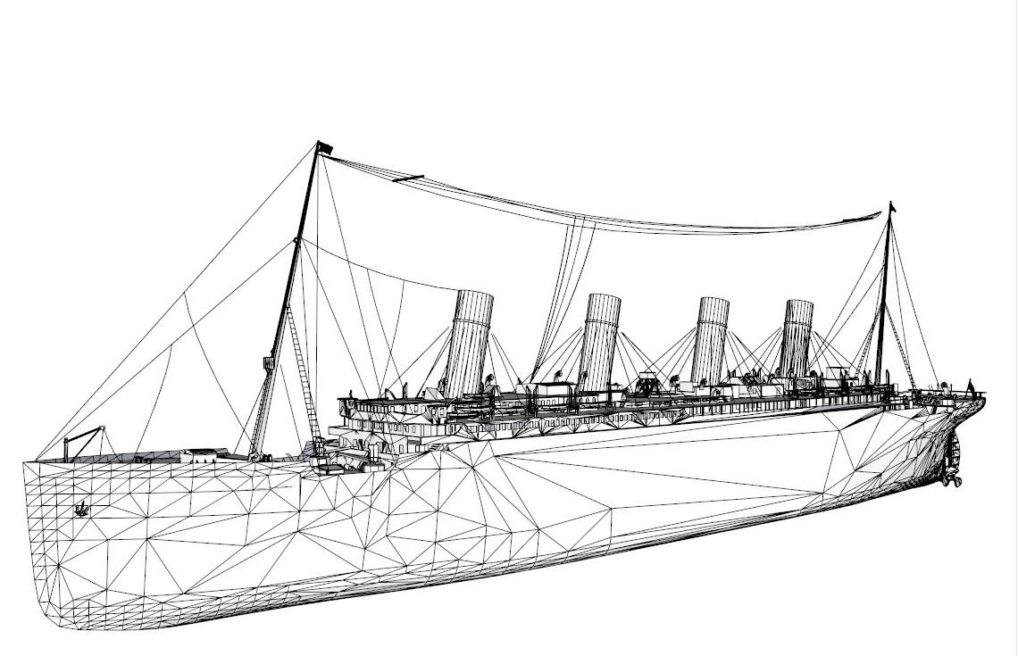 titanic 3d model 3ds dxf dwg skp obj 163729